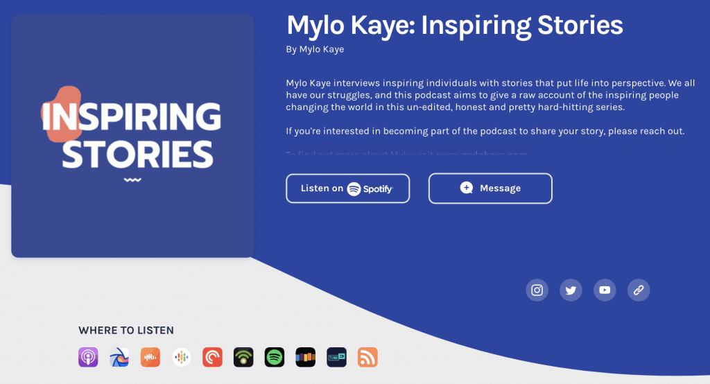 Mylo Kaye - Inspiring Stories Podcasts